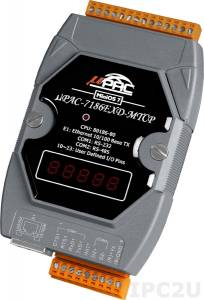 uPAC-7186EXD-MTCP PC-compatible 80MHz MTCP Industrial Controller, 512kb Flash, 640kb SRAM, 2xRS232/485, Ethernet, MiniOS7