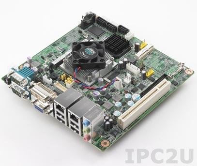 AIMB-213D-S6A1E Intel Atom D525 1.8GHz Mini-ITX with CRT/DVI/LVDS, 6 COM, and Dual LAN