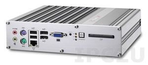 MXE-1020 Intel Atom N270 fanless embedded controller with 2 x 1394b, 1 x GbE, 4 x COM, 1GB DDR2