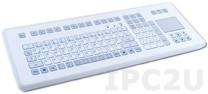 TKS-105c-TOUCH-KGEH-PS/2 DeskTop Industrial IP65 Keyboard, 105 Keys, TouchPad, PS/2 Interface