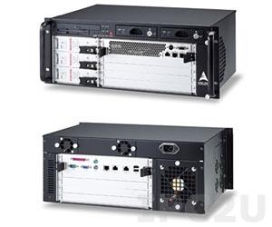 "cPCIS-6400UA/AC 19"" 6U cPCI Sub-system w/4U Enclosure, 64-bit 5-slot CTI Backplane Rear I/O with FDD, CD-ROM, SATA HDD Rack, 3xcPS-H325/AC PSU"