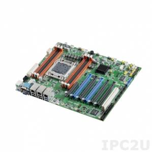ASMB-822I-00A2E Server board ATX, Intel Xeon E5 1600(v2),2600(v2), Chipset Intel C602J, up to 96Gb DDR3, 1xVGA, 2xGb LAN, 4xSATAII, 2xSATAIII, 10xUSB 2.0, 4xUSB 3.0, 2xRS-232, 2xPS/2, 1xLPT, 5xPCIe x16, 1xPCIe x8, 1xPCI, IPMI, Audio, power supply 12V DC