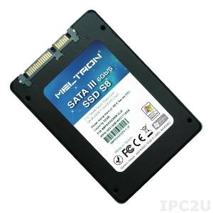"S8PH480GBM-RU 2.5"" SSD Meltron, SATA 3, 480GB, MLC, operating temperature 0..70C"