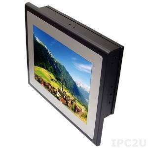 "ST12251 10.4"" TFT LCD Fanless Panel PC, resistive touch, 2I385C-I44, Intel Atom E3845 1.91Ghz, 4Gb DDR3L, 1x2.5"" HDD, 4x COM, 2x LAN, 4x USB, VGA, 2x Mini PCIe (1x mSATA half size), DC IN 9-36V"