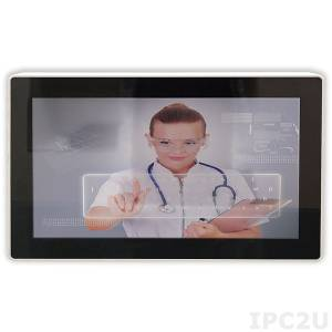 "SH33252-00C 13.1"" TFT LCD Fanless Panel PC, resistive touch, 2I385CW-I12-00, Intel Atom E3815 1.46Ghz, 2Gb DDR3, mSATA/2.5"" HDD, 3xCOM, 2xLAN, 2xUSB, VGA, 2xMini PCIe, DC IN 12V"