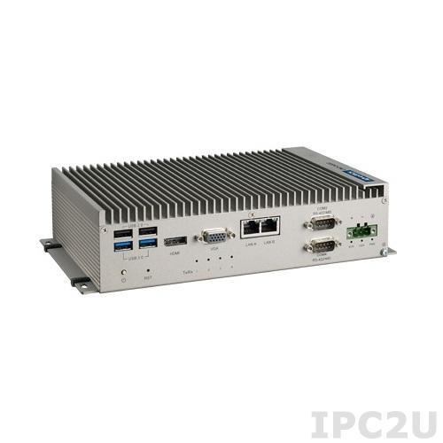 UNO-2483G-434AE Embedded system w/CPU Intel Core i3-4010U, 8GB RAM, VGA, HDMI, 4xGB LAN, 4xCOM, 2xUSB 2.0, 2xUSB 3.0, 2x mPCIe, Audio, IP40, -20...60C