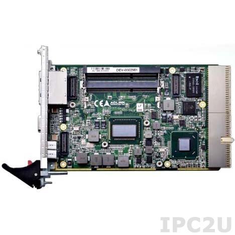 cPCI-3970P/655L/M4G 3-slot 3U cPCI w/ Intel Core i7-2655LE and 2x2GB DDR3-1333 SOCDIMM w/ VGA, 2xGbE, 4xUSB, Audio, COM, PS/2,CF, SATA, PMC/XMC