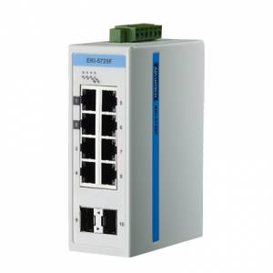 EKI-5729FI-AE ETHERNET DEVICE, 8-port+2 SFP Gigabit Ethernet ProView Switch, w/ Wide Operating Temperature Range: -40...+75C