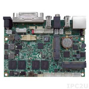 "2I268C-DH26-00 2.5"" Motherboard with Intel Atom N2600 1.6GHz, 2Gb DDR3, DVI, LVDS, GbE LAN, 2xUSB, Touch Screen, 12V DC"