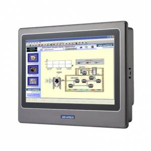 "WOP-2070T-N2AE 7"" 800 x 480 TFT LCD PanelPC, IP66 Front Bezel, RISC 200-bit 200MHz CPU, 64MB SDRAM, 8MB (NOR), 128MB (NAND), Ethernet, Micro-SD, 24VDC-in"