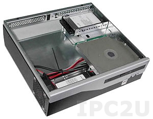 "GHB-B05-1 Compact Chassis for Mini-ITX CPU Board, 1x5.25"" Slim/4x2.5"" Drive Bays, without Power Supply"