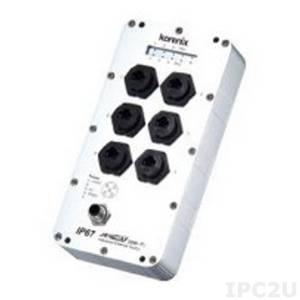 JetNet-3006f-m Korenix Industrial Ethernet Rail Switch w/ 4x 10/100Base-TX Ports, 2xMulti Mode 100Base-FX Ports