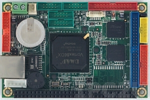 VDX-6315RD Vortex86DX Tiny CPU Module 256MB/4S/2USB/LAN/2GPIO/PWMx24, operation temp -20..70 C