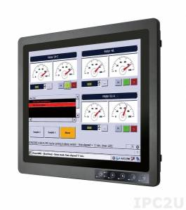 "R19L100-67FTP Industrial 19"" Display, Full IP67, 1024x1024, aluminum front panel, 3xM12 (VGA, USB, DC), external power adapter12V DC 100-240V AC, power supply 9-36V DC (M12)"