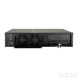 RACK-220GBATX/A130B 2U MicroATX Motherboard Rackmount Chassis, 2 x 8 cm fan, With ACE-A130B-RS 300W ATX PSU, black