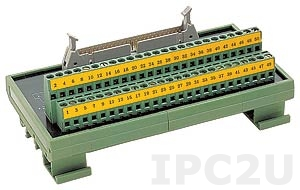 DIN-50P-01 50-pin Connector Termination Board, Opto-22 Compatible, DIN Rail Mounting