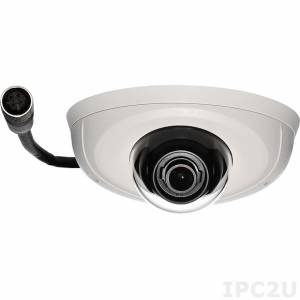 NCm-201-2VM Network Camera 2MP@30fps, 1080@30fps, H.264/ M-JPEG, Fixed lens 2.8mm F1.8, 100dB true WDR, Micro SD slot, M12, IK10 vandal resistant, IP67, EN-50155 certified, image stabilization, -40...60 C, PoE 48V max