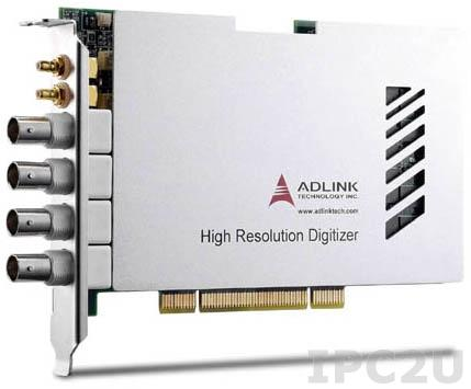 PCI-9816H/512 4-CH 10MS/s 16-Bit Digitizer with ± 5 V or ± 1 V Input Range and 512MB Memory
