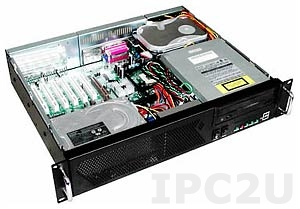 "GHI-252H 19"" Rackmount 2U Chassis, ATX, 1x5.25""/4x3.5"" HDD Drive Bays, 3 Horizontal Slots, without P/S"