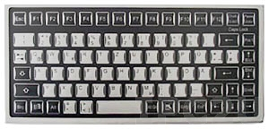 TKF-085c-MGEH-PS/2 Desktop Industrial Flat IP65 Keyboard, 85 Keys, PS/2 Interface