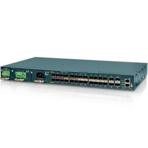 MSW-4424S Managed Gigabit L2 Carrier Ethernet Switch with 24x 100Base-FX/1000Base-X Ports and 4x 10G Base-X SFP Ports, Synchronous Ethernet, 0..50C Operating Temperature