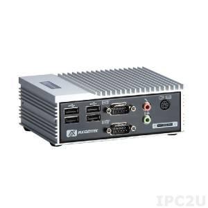 "eBOX530-820-FL1.1G-RC-EU Embedded Server with Intel Atom Z510 1.1GHz, VGA, 1xDDR2 SODIMM up to 2Gb, 2xCOM, 1xLAN, 4xUSB, Audio, CF, 1x2.5"" SATA HDD bay, 5V DC"