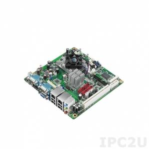 AIMB-223G2-S1A1E Mini-ITX motherboard, Mobile AMD eOntario DC 1.0GHz, up to 4Gb DDR3 SO_DIMM, VGA, HDMI, 2xGbe LAN, 4xSATA, 6xCOM, 8xUSB, 1xMini-PCIe, 1xPCIe x1, 1xPCI