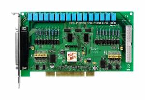 PCI-P16R16U Universal PCI Isolated 16DI, 16 Relay Board, Adapter CA-4037x1, Cable Socket CA-4002x2