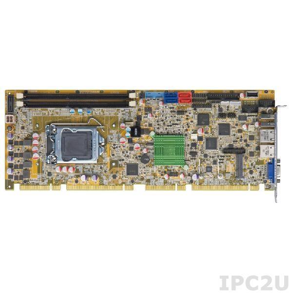PCIE-H810-R10 Full-size PICMG 1.3 CPU Card supports LGA1150 Intel Core i7/i5/i3, Pentium and Celeron CPU per Intel H81, 2x240-pin DIMM DDR3/DDR3L, VGA, 2xLAN, 5xUSB 2.0, 2xUSB 3.0, 2xSATA II, 2xSATA III, LPT, DIO, TPM, iDP, SMBus, mSATA