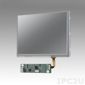 "IDK-1105R-50VGA1E 5.7"" LCD 640 x 480 Open Frame LCD Display LED, 500nit, resistive touch LCD kit (USB), LVDS interface"