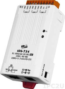 tDS-734 Device Server, 2xRS-232, 1xRS-485, RoHS