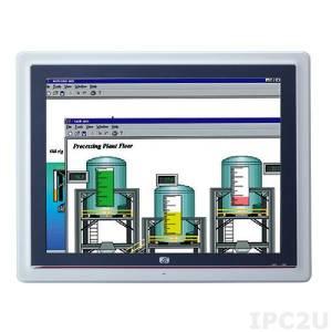 "GOT-5152T-834 15"" XGA TFT Fanless Touch Panel Computer with Intel Celeron J1900 2.00 Ghz, Resistive touchscreen, 1x204-pin DDR3L-1333, 2.5"" SATA HDD bay, 1x CF slot, 3xCOM, 4xUSB, 2xLAN, Audio, 1xVGA, 2xPCle Mini, power supply 9-36V DC"
