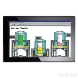 """P6157WPG-24VDC 15.6"""" TFT 300 nits WXGA LCD, 1366x768, 1xVGA, 1xRCA, 1xS-Video, 1xDVI, power supply 24V DC-in"""