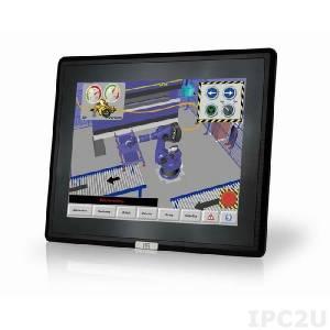 "DM-F12A/R-R11 Industrial 12"" LCD Monitor, Aluminium Front Panel, IP65 Front Protection, 1024x768 XGA, Brightness 600cd/m2, Resistive Touch Screen, 1xVGA, 1xDP, 1xHDMI, 1xUSB 2.0, 1xRS-232, 9-36V DC-In"