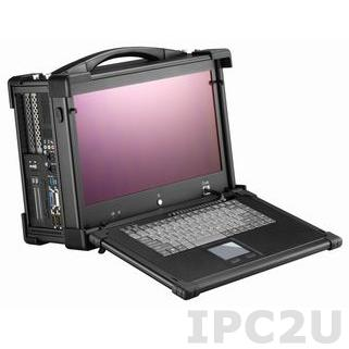 "ARP970-15WC Aluminium Industrial Portable Workstation, 15.6"" TFT LCD, Intel Core i-5 2510E 2.5GHz, 2x4Gb DDR3, 500GB HDD SATA, Slim DVD-RW, LVDS, 2xGLAN, 2xCOM, 2xUSB 3.0, 4xUSB2.0, Audio, 2xPCI, 1xPCIe-16, 250W PSU"