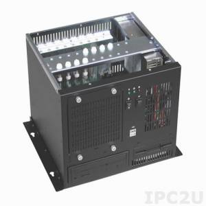 """GHB-083-8 Wallmount Chassis, 8 Slots, 1x5.25""""/1x3.5""""/1x3.5"""" HDD Drive Bays, without P/S"""