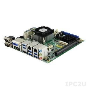 MI990EF-6100 Mini-ITX Industrial Motherboard, Intel Core i3-6100 2.7GHz, Intel HM170, 2xDDR4 SO-DIMM, 2xSATA III, mSATA, DVI-D, HDMI, DP, LVDS, 6xCOM, 4xUSB 2.0, 6xUSB 3.0, 2xGbE LAN, 1xPCIe x16, 2xMini PCIe, 1xM.2, DIO, RAID, iSMART, Audio