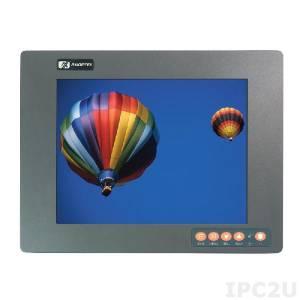 """P6122LPR-24V-DC-RS 12.1"""" TFT 450 nits SVGA LCD, 800x600, resistive touchscreen (RS-232), 1xVGA, 1xDVI, power supply 24V DC"""