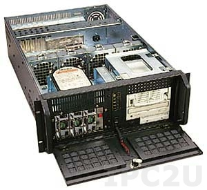 "GH-432ATXR 19"" Rackmount 4U Chassis, EATX, 3x5.25""/1x3.5"" FDD/2x3.5"" HDD Drive Bays, without P/S"