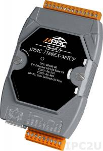 uPAC-7186EX-MTCP PC-compatible 80MHz MTCP Industrial Controller, 512kb Flash, 640kb SRAM, 2xRS232/485, Ethernet, MiniOS7, Modbus