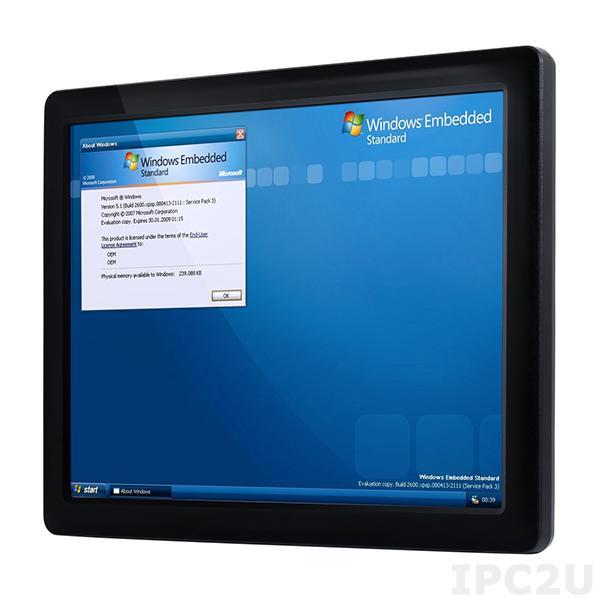 "PPC-104T-D2N5N-GE Fanless Panel PC with 10.4"" TFT LCD, Touch Screen, Vortex86DX2 933MHz CPU, 2GB DDR2, SATA Slim slot, CF slot, 2xCOM, 3xUSB 2.0, PS/2, 1xLAN, 1xGbit LAN, Audio, 12-24V DC-In"