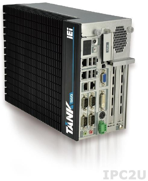"TANK-860-HM86i-C/4G/6A-R10 Embedded System, Intel Core i5-4400E 2.7 GHz, Intel HM86, 4GB DDR3 RAM, VGA/DVI-I/DisplayPort, 2x LAN, 4xCOM, 6xUSB , 3 x PCIe and 3 x PCI, 2x 2.5"" SATA HDD Bay, CFast, mSATA, Audio, iRIS-2400 optional, -20...+70C, 9 V~36 V DC"