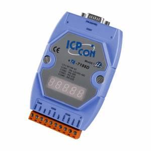 I-7188D/512 PC-compatible 40MHz Industrial Controller, 512kb Flash, 256kb SRAM, 2xRS232, 1xRS485, 1xRS232/485, 7-Segment Display, MiniOS7, cable CA-0910x1