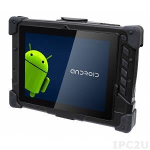 IQ-8 IQ-8 Rugged Tablet PC, 8'' TFT LCD, Touch Screen, Qualcomm S4 APQ8060A Cortex A15 Dual core 1.5G, 1GB LPDDR2, 8G eMMC, 1 x 10/100, 1xCOM, 1xUSB, 802.11a/ b/g/n Wireless Module, Bluetooth Module, GPS Module, Android 4.3 OS, 100-240V AC-In